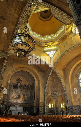 Saint-Julien Church (20th century, architect Albert Guibert) of Domfront, department of Orne, Normandie region, - Stock Image