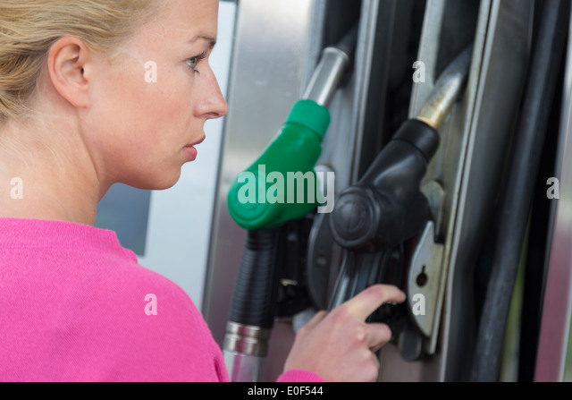 Woman pumping gas naked comfort! Well!