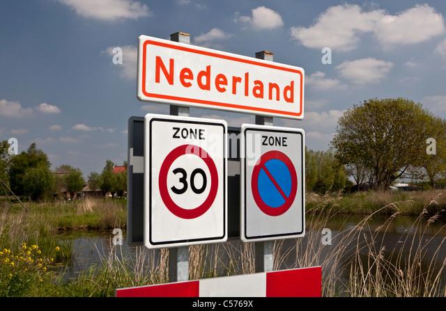 The Netherlands, Nederland, Village called Nederland, which means Netherlands in Dutch. - Stock-Bilder