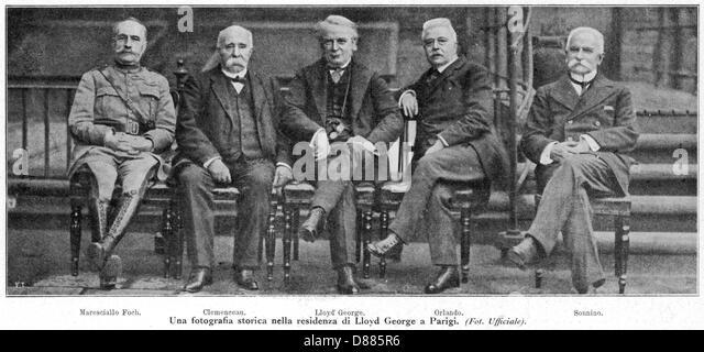 Signatories Of Treaty - Stock Image