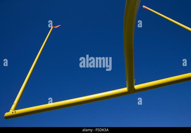 American football goal post - Stock Image