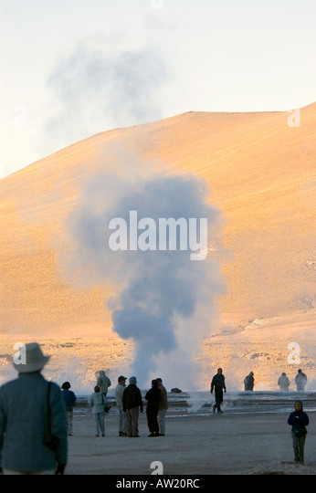 Chile Atacama  Desert El Tatio Geyser geothermal field - Stock Image