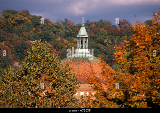 Fall Colors autumn Asheville North Carolina - Stock Image