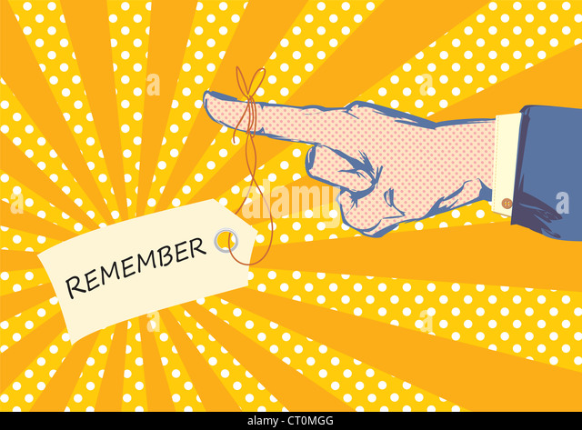 Sketched hand and finger pointing with suit jacket and shirt sleeve in pop art style - Stock Image