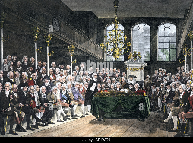 English House of Commons in 1793 - Stock Image
