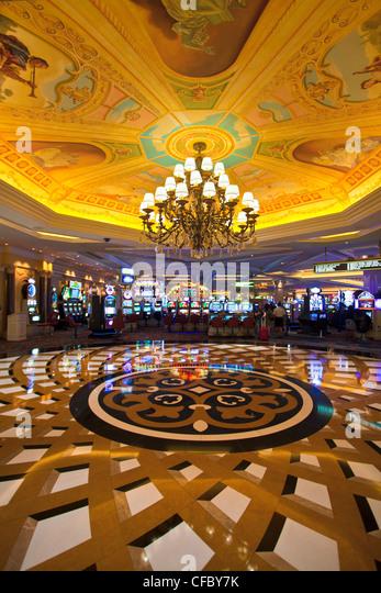 USA, United States, America, Nevada, Las Vegas, City, Venetian Hotel, Interior, architecture, casino, fantasy, lamp, - Stock Image