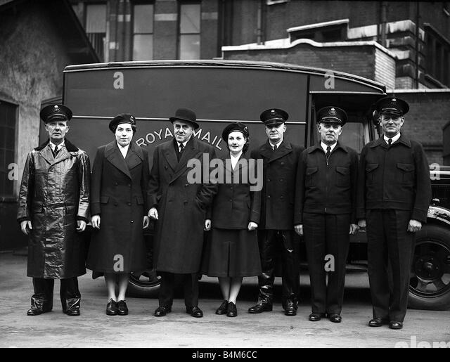 Post Office New Uniforms for Postal Workers 1952 - Stock Image