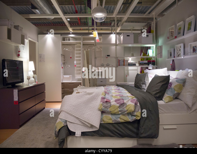 Bedroom display furniture store stock photos bedroom for Ikea silver spring