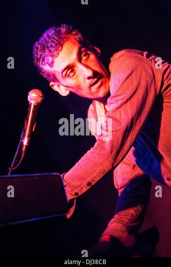 Milan Italy. 19th November 2013. The American indie-rock band CAVEMAN performs live at the Salumeria Della Musica - Stock Image