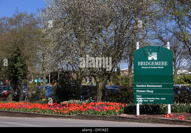 Entrance to Bridgemere Nursery and Garden World which is the largest garden centre in Britain - Stock Image