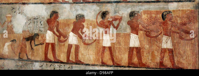 Paintings from the tomb of Unsu, Ancient Egypt - Stock-Bilder