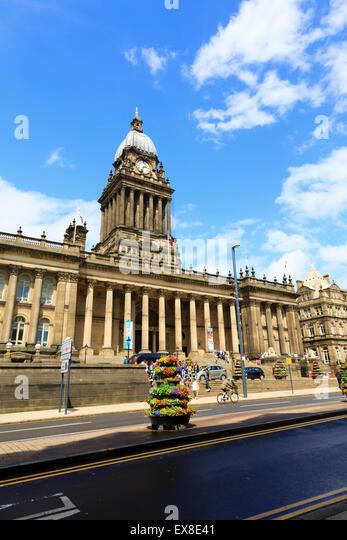 Town Hall, Leeds, Yorkshire, England - Stock Image