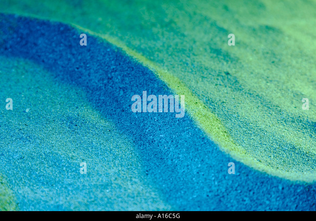 VHM102388 Abstract colourful image Fine Art made from sand - Stock Image