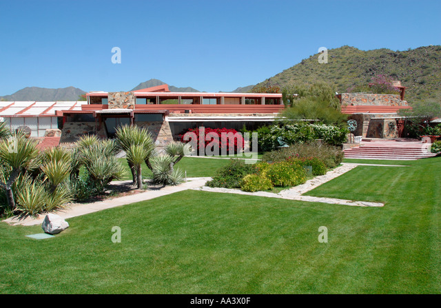 Taliesin West Architect Frank Lloyd Wright s Studio and Home Scottsdale Arizona Building Started 1937 - Stock-Bilder