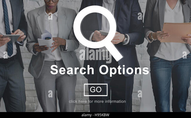 Search Options Internet Selection Homepage Concept - Stock Image