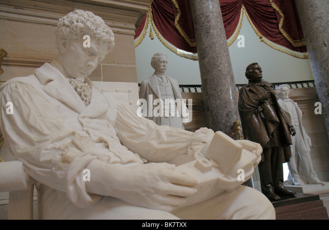 Washington DC United States US Capitol history government Congress House of Representatives National Statuary Hall - Stock Image