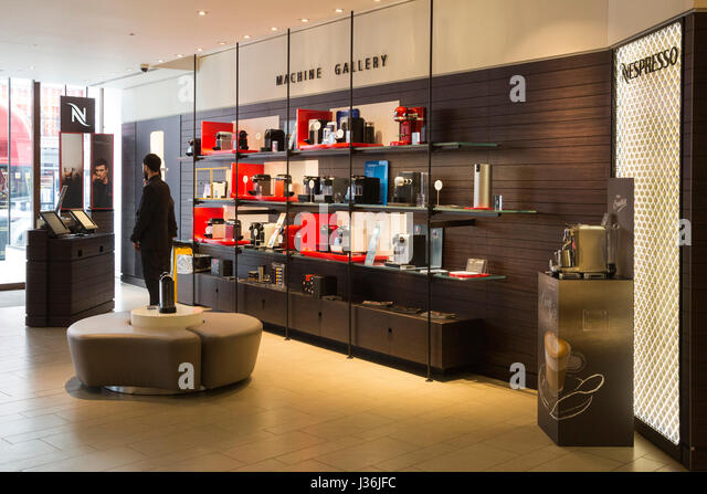 coffee shop nespresso stock photos coffee shop nespresso stock images alamy. Black Bedroom Furniture Sets. Home Design Ideas