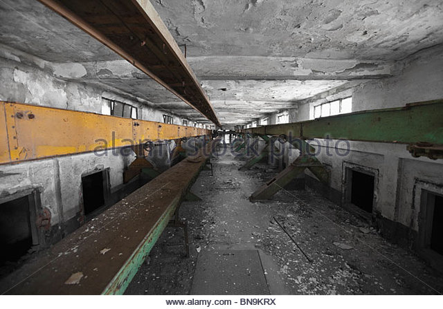 Abandoned industrial site in Fusina, Venice, Italy. - Stock Image