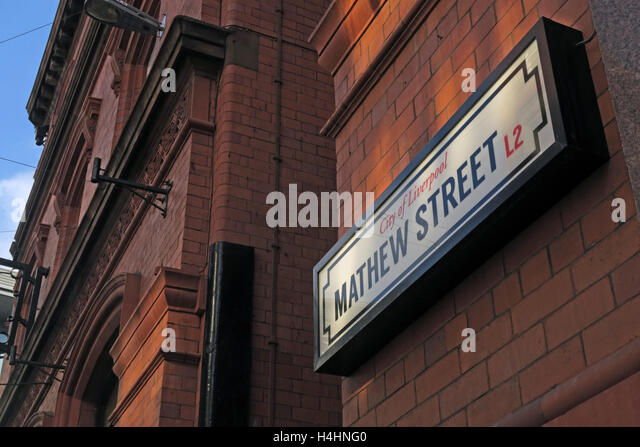 Mathew Street,Beatles Cavern walks,Liverpool,Merseyside,England - Stock Image