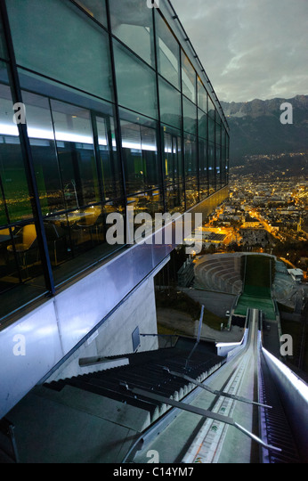 Zaha Hadid's Bergisel Ski Jump in Innsbruck Austria - Stock-Bilder