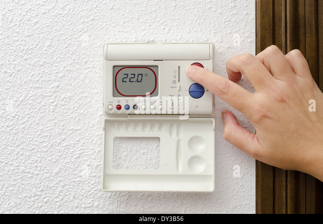 thermostat at home stock photos thermostat at home stock images alamy. Black Bedroom Furniture Sets. Home Design Ideas