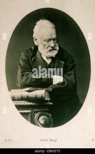 Victor Hugo - French poet and novelist 26 February 1802 — 22 May 1885 - Stock Image