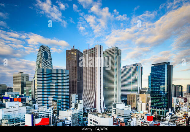 Shinjuku, Tokyo, Japan financial district cityscape. - Stock-Bilder