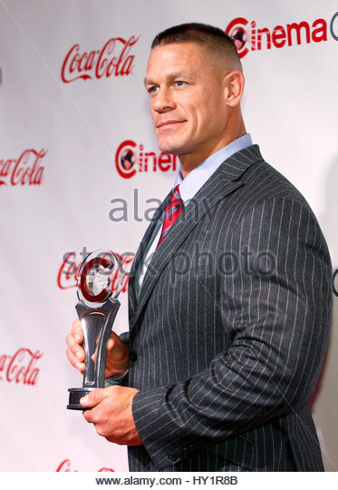 John Cena, recipient of the Action Star of the Year Award, poses on the red carpet during CinemaCon, a convention - Stock Image