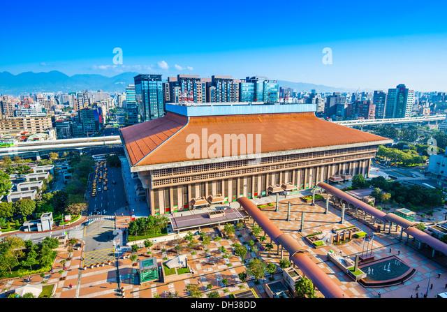 Taipei Main Station in the Zhongzheng District of Taipei, Taiwan. - Stock Image