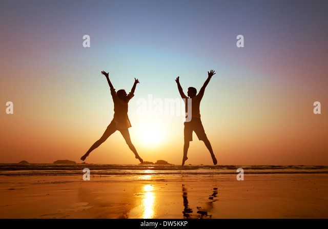 family vacations on the beach - Stock Image