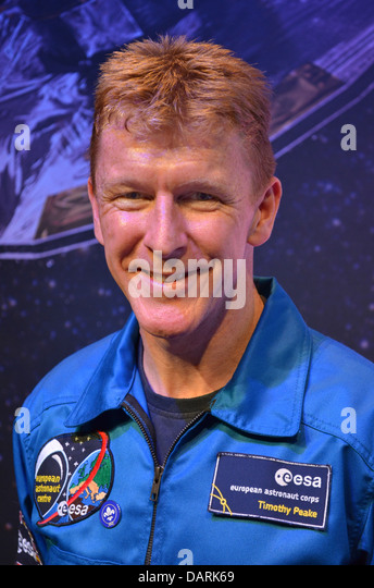 Major Tim Peake, the UK's ESA astronaut, due to fly to the International Space Station in 2015. - Stock Image