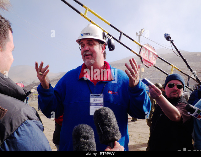 Reportage-33 miners Chile, Mina San José Mine Rescue Chile.Gregory Hall was an Heroe. - Stock Image