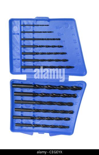 Box of Drill Bits - Stock Image
