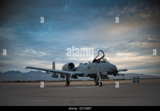 A-10 Thunderbolt II Air National Guard - Stock Image