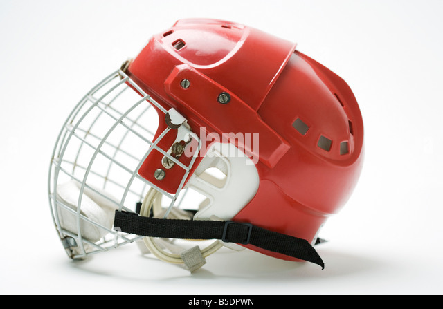 Hockey helmet, side view - Stock Image