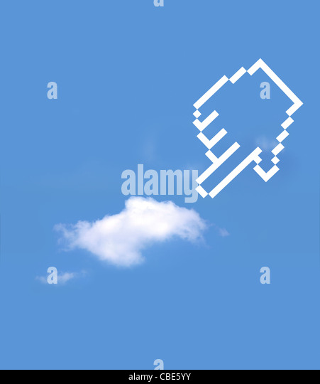 icon hand select cloud computing - Stock Image
