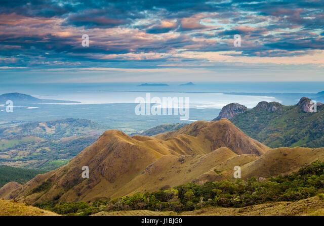 Evening in Altos de Campana National Park, Panama province, Republic of Panama. - Stock-Bilder