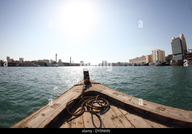 Dubai creek water taxi, Dubai - Stock Image