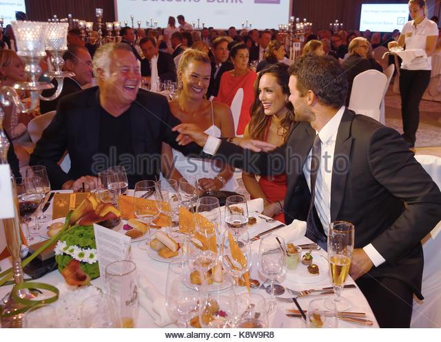 'GRK Golf Charity Masters' Gala in Leipzig.  Featuring: FRANZSIKA VAN ALMSICK, JUERGEN B HARDER, MICHAEL - Stock Image