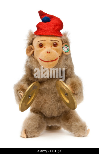 Vintage wind-up 'Jolly Musical Monkey' from 1956 by DRGM of West Germany - Stock Image
