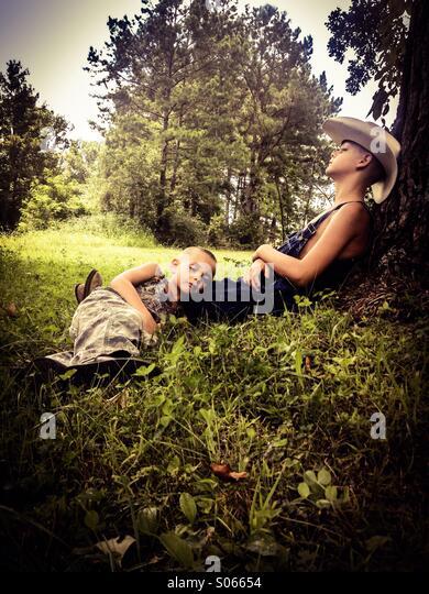County naptime - Stock Image