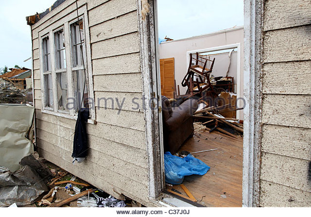 A destroyed home in Alberta, Alabama, near Tuscaloosa, United States May 1, 2011. - Stock Image