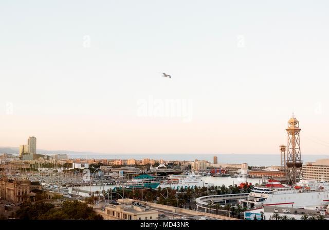 Cityscape, Barcelona, Catalonia, Spain - Stock Image