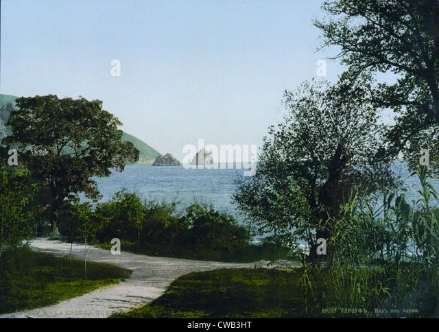 Russia, Gursuff (aka Gurzuf), Crimea, photochrom, circa 1900. - Stock Image