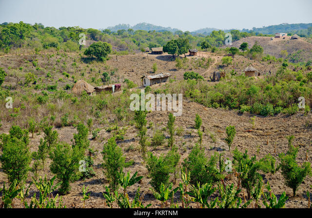 Countryside in central Mozambique near Chimoio. - Stock Image