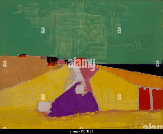 20th century  -  Sicily, 1954 - Nicolas de StaëlPhilippe Sauvan-Magnet / Active Museum Oil on canvas - Stock Image