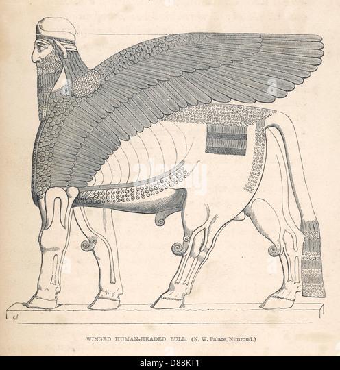 Iraq Archaeology Kalhu - Stock Image