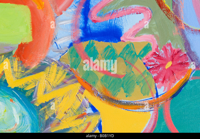 Close up of an abstract pattern on a multi colored background - Stock Image