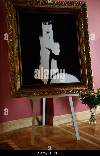 St. Petersburg, Russia, 10th June, 2015. Presentation of the exhibition of Antonio Meneghetti in the Marble Palace. - Stock Image