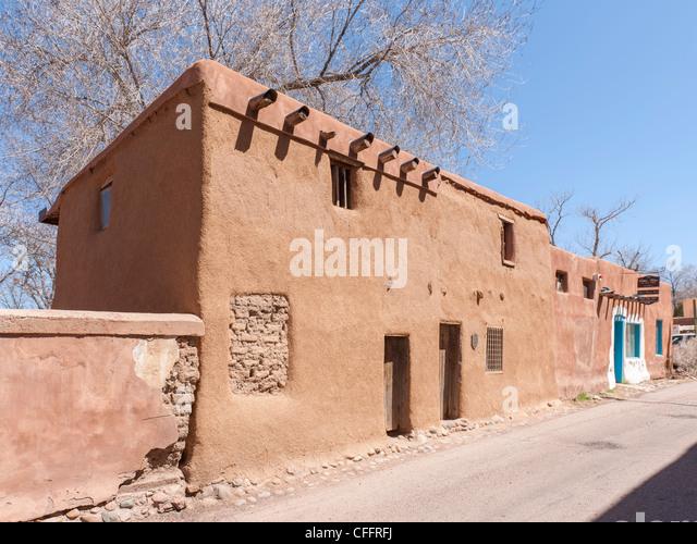 Oldest House, Santa Fe - Stock-Bilder